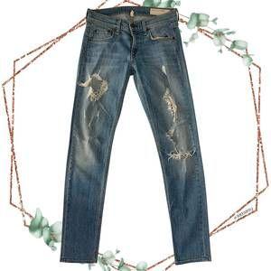 Rag & Bone Dre distressed jeans in rosslyn size 24